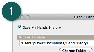 Step 1 - Enable Hand Histories